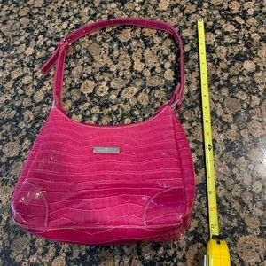 Rosetti Faux Pink Alligator Skin Bag with Wallet